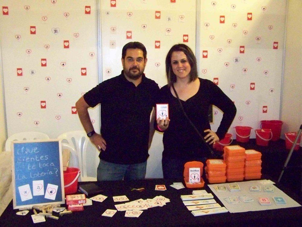 Darylane con Manuel Palau en el Festival Internacional de Juegos de Mesa de Córdoba.